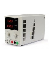 LABORATORIUMVOEDING 0-30 VDC / 5 A max. DUBBELE LED-DISPLAY