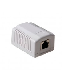 WALLBOX 1XRJ45 SHIELDED CAT6